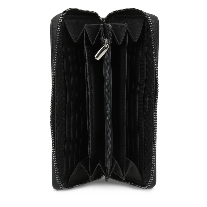 Kožená dámska peňaženka so šupinami gabor-bags, čierna, 946-6002 - 15