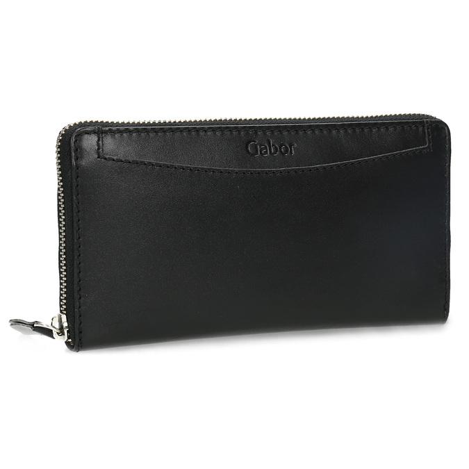 Čierna dámska kožená peňaženka gabor-bags, čierna, 946-6003 - 13