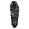 Kožené pánske mokasíny na výraznej podrážke bata, čierna, 814-6176 - 17