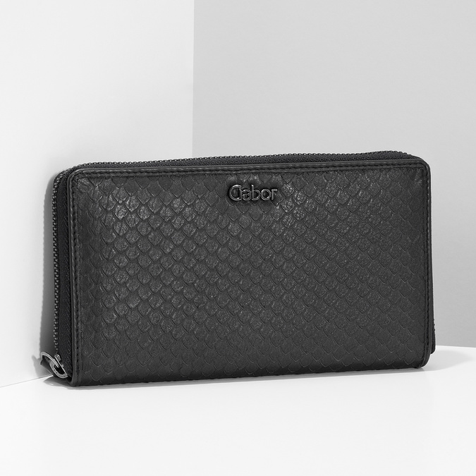 Kožená dámska peňaženka so šupinami gabor-bags, čierna, 946-6002 - 17