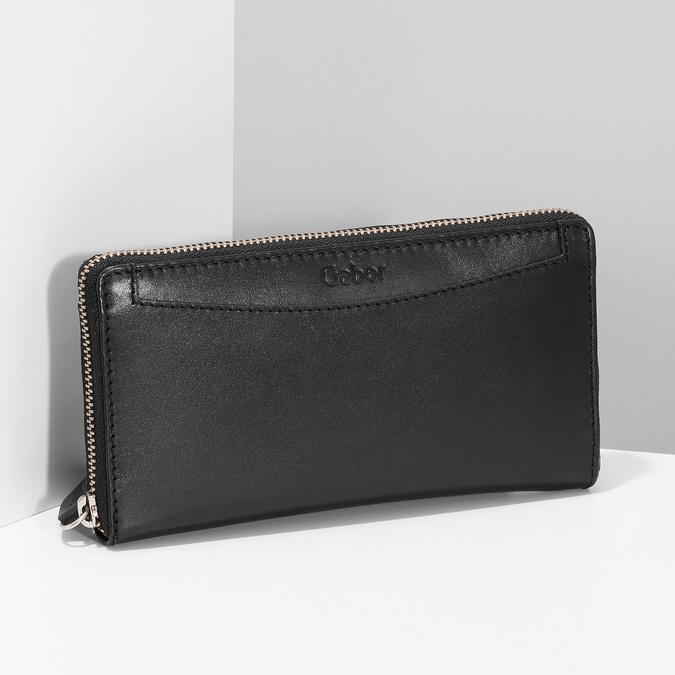 Čierna dámska kožená peňaženka gabor-bags, čierna, 946-6003 - 17