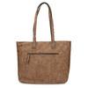 Shopper kabelka s perforovaným vzorom gabor-bags, hnedá, 961-3442 - 16