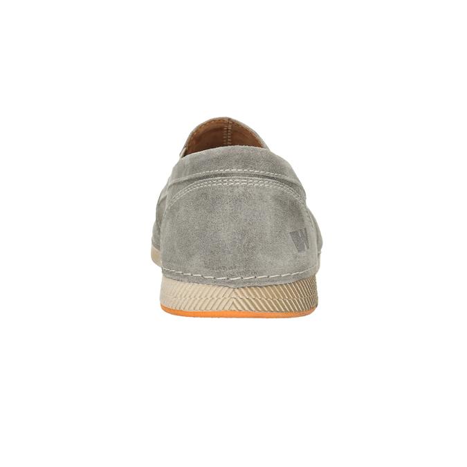 Slip-on z brúsenej kože weinbrenner, šedá, 833-8603 - 16