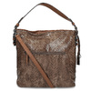 Kabelka v dizajne hadej kože gabor-bags, hnedá, 961-3008 - 16