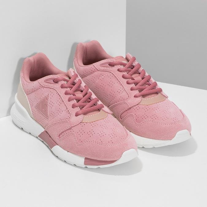 Ružové dámske tenisky z brúsenej kože le-coq-sportif, ružová, 503-5309 - 26