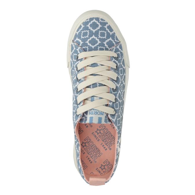 Dámske textilné tenisky so vzorom north-star, modrá, 549-9608 - 15