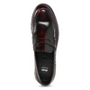 Pánske kožené mokasíny s červeným podtónom bata, červená, 814-5177 - 17