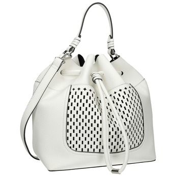 Biela Bucket Bag kabelka bata, biela, 961-1298 - 13
