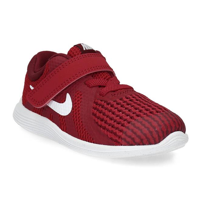 Nike Červené detské tenisky na suchý zips - Športové značky  58eca631b5