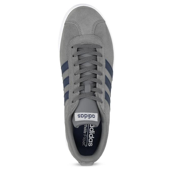 Pánske šedé tenisky z brúsenej kože adidas, šedá, 803-2379 - 17
