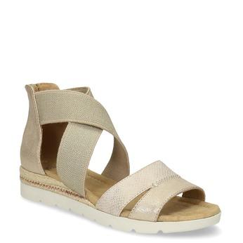 Zlaté dámske sandále na kline bata, béžová, 569-8608 - 13