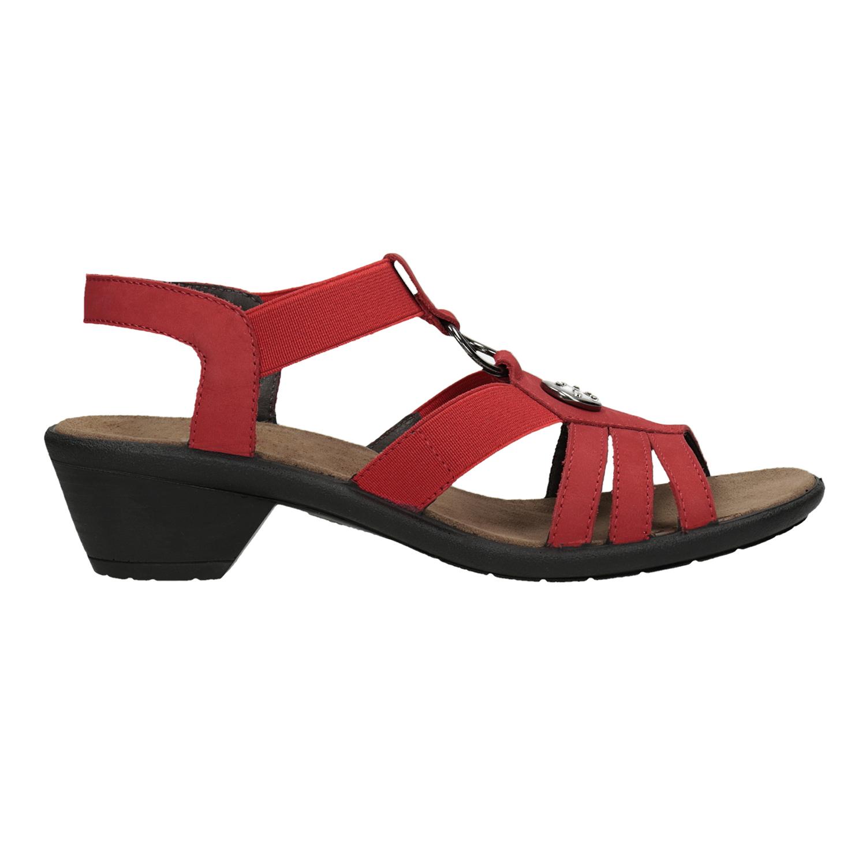 b0d0b6527b92 Comfit Dámske červené kožené sandále - Comfit