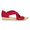 Červené kožené sandále na kline bata, červená, 563-5600 - 19