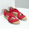 Červené kožené sandále na kline bata, červená, 563-5600 - 26