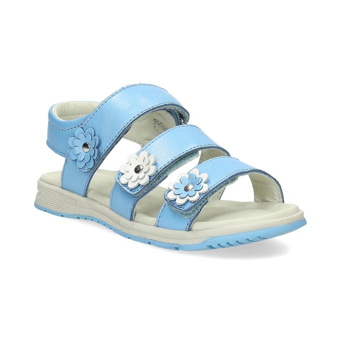 6a28466ea9465 Letné modré dievčenské sandále mini-b, modrá, 364-9601 - 13
