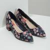 Kvetinové lodičky na nízkom podpätku bata-red-label, modrá, 629-5640 - 26