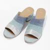 Kožené modré nazuváky na podpätku bata, modrá, 666-9625 - 16