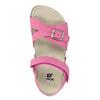 Ružové dievčenské sandále mini-b, ružová, 261-5610 - 17