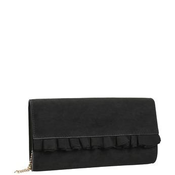 Čierna listová kabelka s volánom bata, čierna, 969-6687 - 13