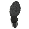 Kožené sandále na podpätku šírky H bata, čierna, 664-6610 - 18