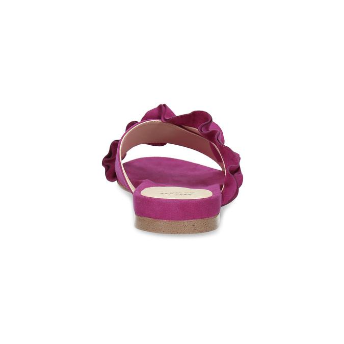 Dámske nazuváky s volánom a kamienkami bata, ružová, 569-5602 - 15