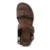 Pánske kožené hnedé Ombré sandále bata, hnedá, 866-4633 - 17