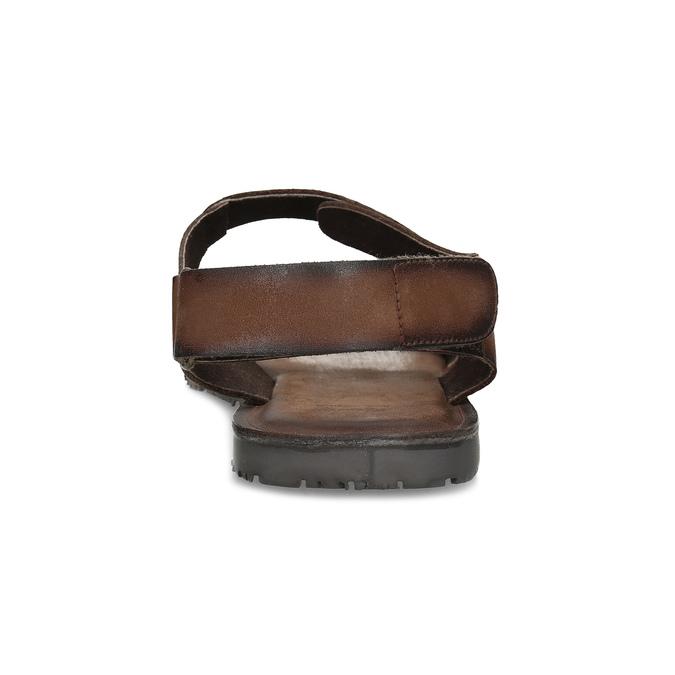 Pánske kožené hnedé Ombré sandále bata, hnedá, 866-4633 - 15