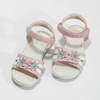 Ružovo-biele dievčenské sandále s kvetmi mini-b, ružová, 261-5615 - 16