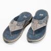 Prešívané kožené pánske žabky bata, šedá, 866-9845 - 16