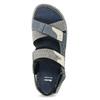 Modré kožené pánske sandále na suchý zips bata, šedá, 866-9640 - 17