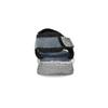 Modré kožené pánske sandále na suchý zips bata, šedá, 866-9640 - 15