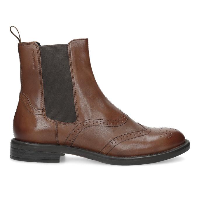 Dámska hnedá kožená Chelsea obuv vagabond, hnedá, 514-3002 - 19
