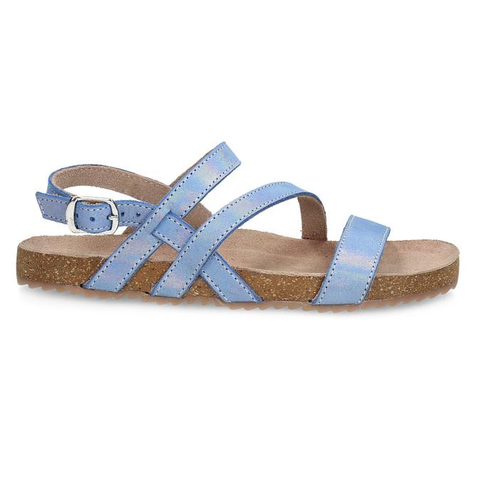 Dievčenské sandále s holografickými remienkami mini-b, modrá, 466-1609 - 19