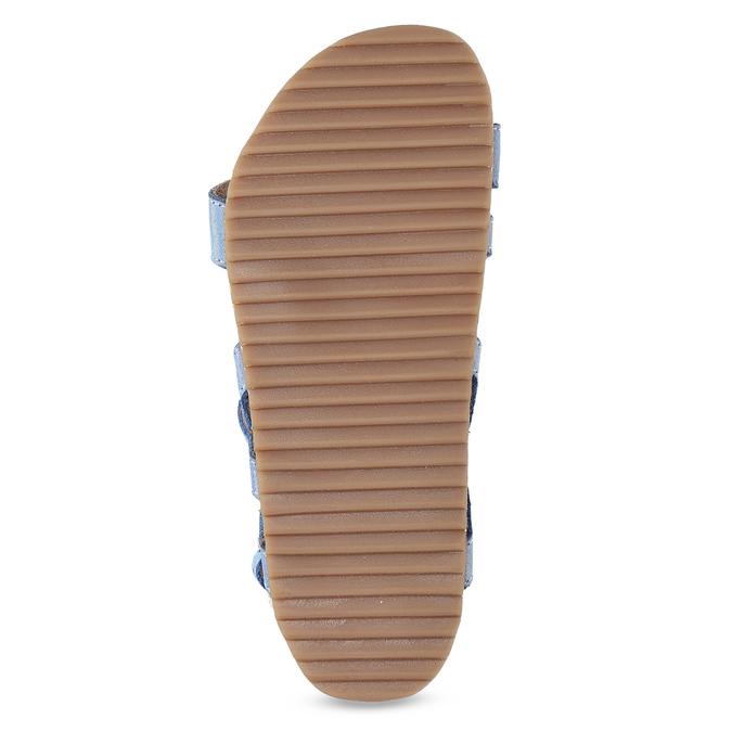 Dievčenské sandále s holografickými remienkami mini-b, modrá, 466-1609 - 18