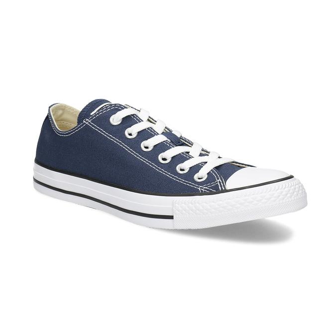 Dámske textilné tenisky s gumovou špičkou converse, modrá, 589-9279 - 13