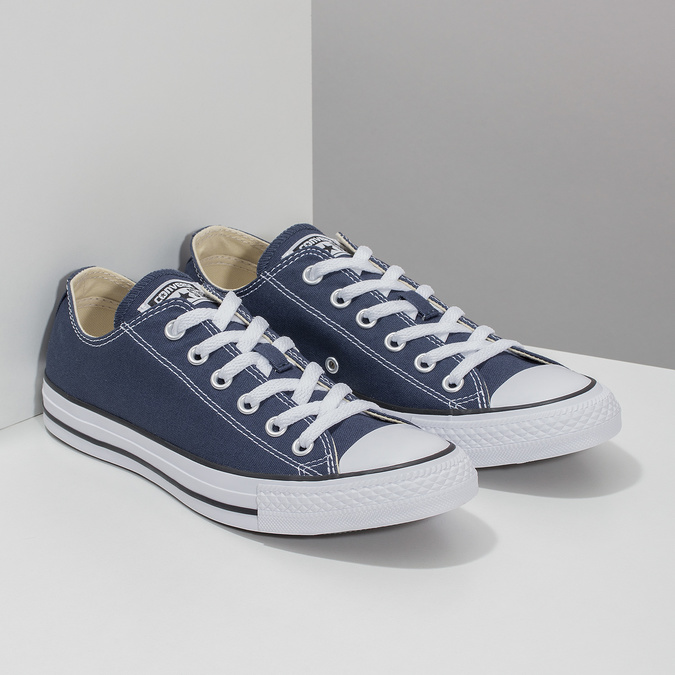 Dámske textilné tenisky s gumovou špičkou converse, modrá, 589-9279 - 26