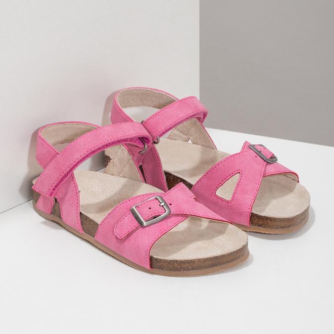 Ružové dievčenské sandále mini-b, ružová, 261-5610 - 26