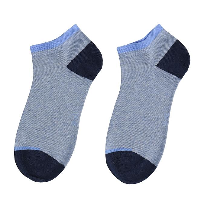 Svetlomodré členkové ponožky bata, modrá, 919-9804 - 26