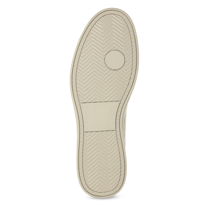 Béžové pánske Slip-on btopánky bata-red-label, béžová, 839-8601 - 18