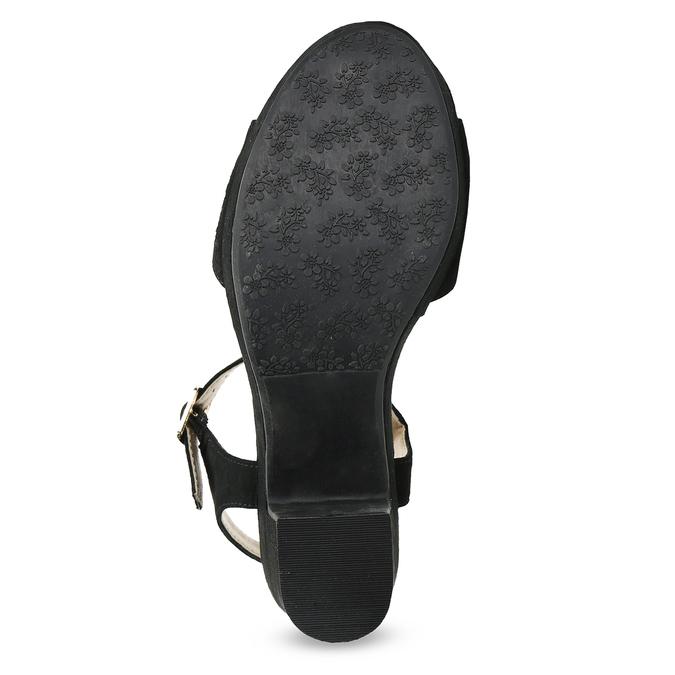 fb57f99d2f Insolia Čierne sandále na širokom podpätku s kamienkami - Všetky ...