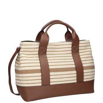 Hnedo-béžová kabelka s pruhmi bata, béžová, 969-1307 - 13