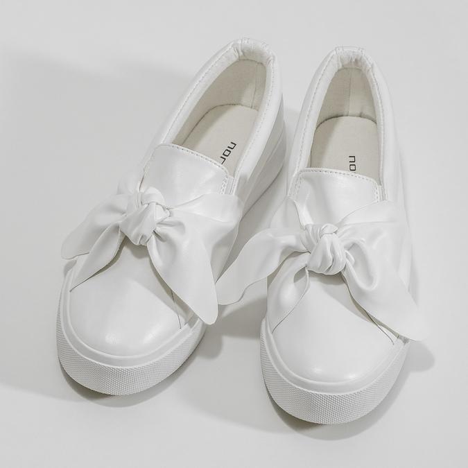 Biela dámska Slip-on obuv s mašľou north-star, biela, 511-1606 - 16
