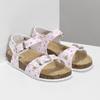 Dievčenské sandále s korkovou podrážkou mini-b, biela, 261-1212 - 26