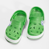 Detské zelené sandále so žabkou coqui, zelená, 272-7603 - 16