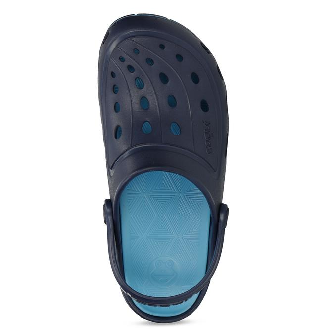 Modré detské sandále typu Clogs coqui, modrá, 372-9656 - 17