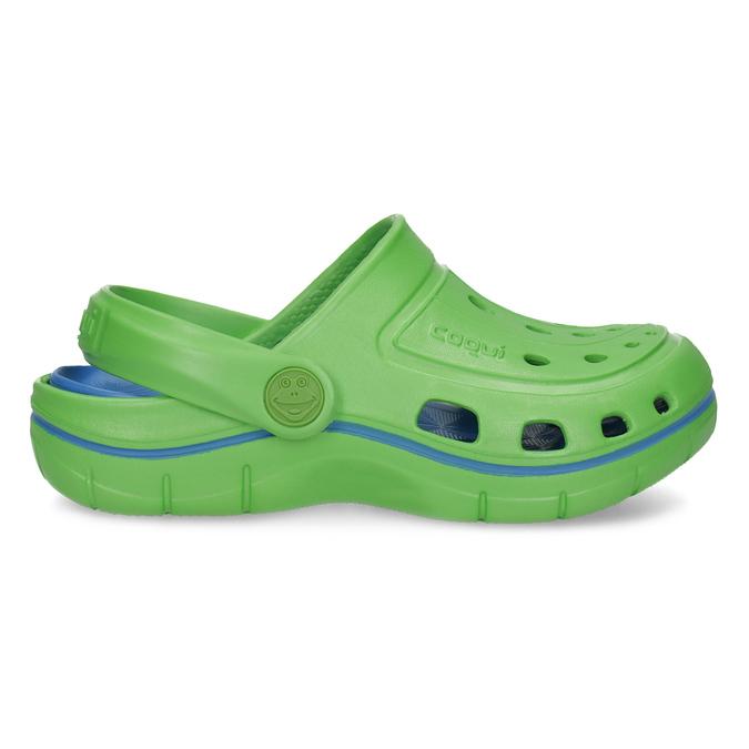 Zelené detské sandále typu Clogs coqui, zelená, 372-7656 - 19