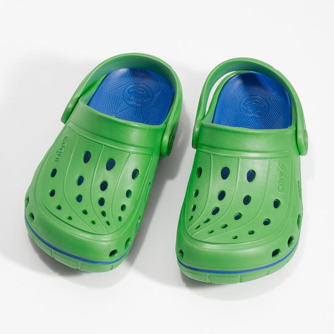 Zelené detské sandále typu Clogs coqui, zelená, 372-7656 - 16