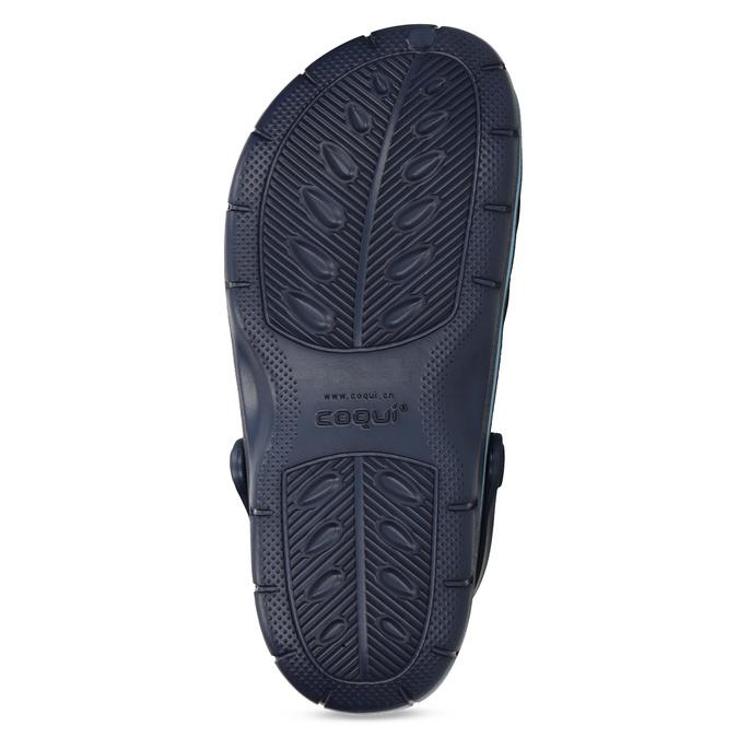 Modré detské sandále typu Clogs coqui, modrá, 372-9656 - 18