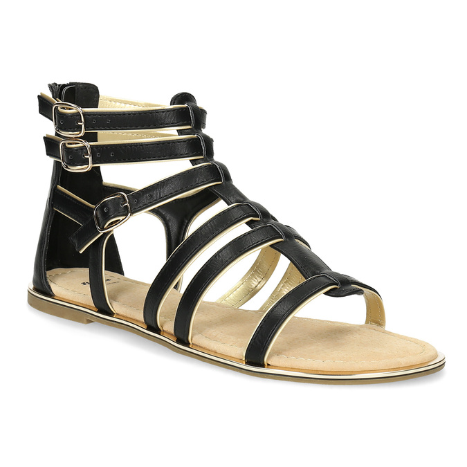 21e087a1d7eb5 Dámske čierno-zlaté sandále bata, čierna, 561-6620 - 13