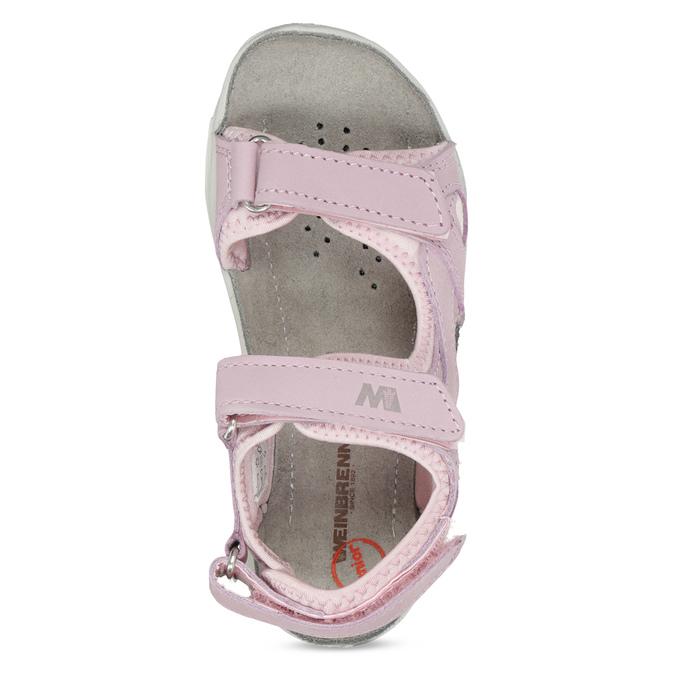 Dievčenské kožené sandále v Outdoor štýle weinbrenner, ružová, 366-5606 - 17